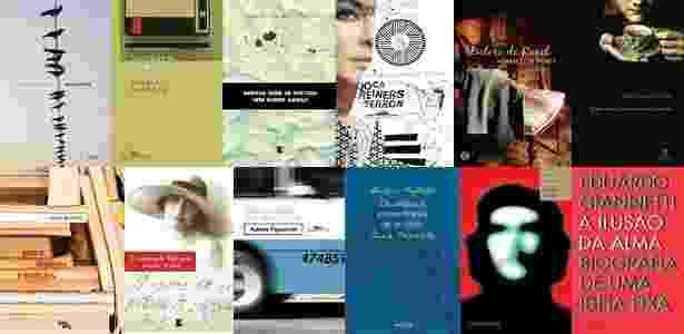 Capas de livros que concorrem ao Prêmio São Paulo de Literatura 2011 - Divulgação
