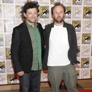 O ator Andy Serkis (e) e o diretor Ruper Wyatt (d) na Comic-Con, em San Diego (21/7/2011) - Dan Steinberg/AP