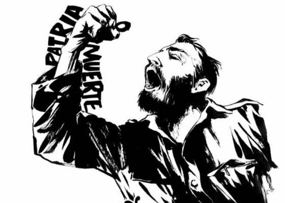 """Desenho de Fidel Castro feito pelo cartunista Reinhard Kleist na história em quadrinhos """"Castro"""", uma biografia ilustrada do histórico líder cubano (28/7/2011) - Norma Editorial/Efe"""