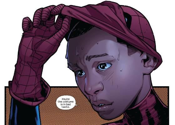 """Imagem do novo homem-aranha, um jovem negro de origem hispânica na série """"Ultimate Comics Fallout"""" - AP Photo/Marvel Comics"""