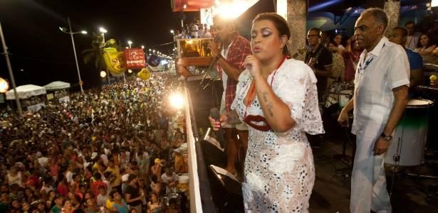 Preta Gil e Gilberto Gil no Expresso 2222 no Carnaval 2011 - Mastrangelo Reino / Folha Imagem