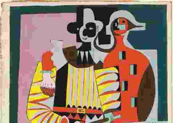 """Obra """"Pierrot y Harlequina"""" de 1920 do pintor Pablo Picasso está exposta no museu Frick, em Nova York (9/8/2011) - EFE/© 2010 Estate of Pablo Picasso/Artists Rights Society (ARS)"""