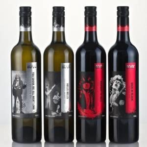 Coleção de vinhos lançada pelo AC/DC - Divulgação