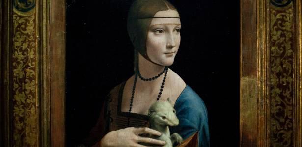 """""""Dama com Arminho"""", de Leonardo da Vinci é uma das peças exibidas em museu renascentista - Photo/Markus Schreiber"""