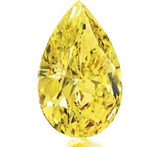 """Diamante amarelo que será leiloado pela casa de leilões Christie""""s em outubro de 2011 - Reuters/Christie""""s"""