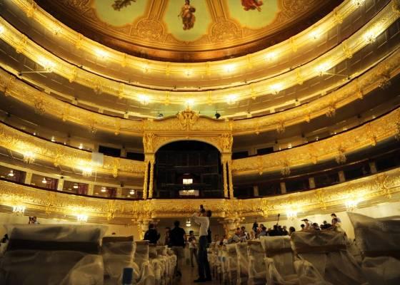 Interior do Teatro Bolshoi, em Moscou, em julho de 2011 - Dmitry Kostyukov/AFP