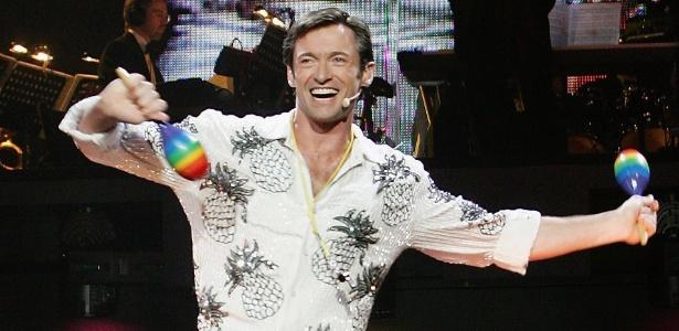 """Hugh Jackman em apresentação para a imprensa do musical """"The Boy From Oz"""" no Sydney Entertainment Centre, em Sydney (2/8/2006) - Patrick Riviere/Getty Images"""