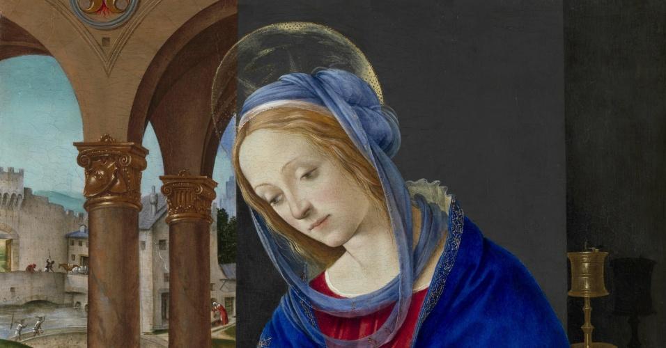 Quadro de Filippino Lippi em exposição na cidade de Roma, na Itália (04/10/2011)