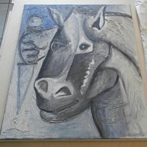 """Tela """"Tête de Cheval"""" (Cabeça de Cavalo), de Picasso, é recuperada na Sérvia (26/10/2011) - Reuters"""