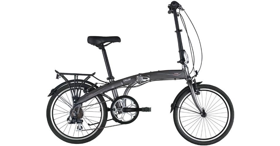 Bike dobrável modelo Urbe, da Caloi