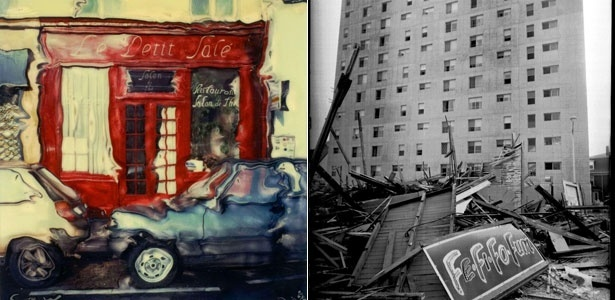 Fotos feitas pelo norte-americano Cary Wasserman em Paris (à esquerda) e Boston (2/12/11) - Cary Wasserman/Divulgação