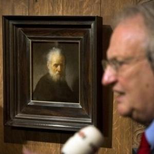 """""""Viellard à la Barbe"""" foi anunciado como quadro do pintor holandês Rembrandt - AFP, Olaf Kraak"""