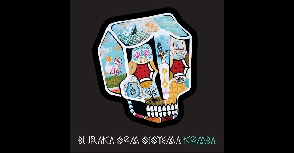 Capa do disco Komba, do Buraka Som Sistema. Trabalho do artista Stephan Doitschinoff feito em 2011.