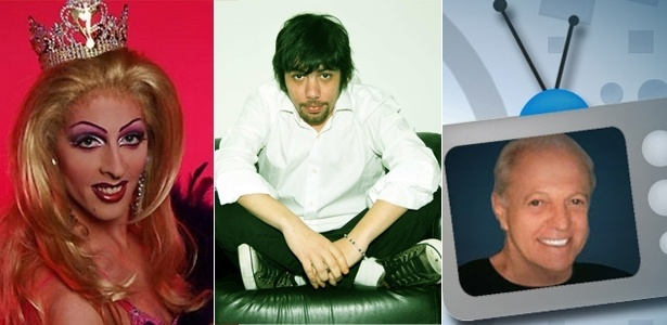 A blogueira Katylene, o VJ China e o colunista Flávio Ricco participam de chats de retrospectiva do ano - Arte UOL