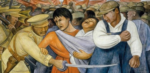 """""""The Uprising"""", quadro de Diego Rivera exposto no MoMA, em Nova York - REUTERS/Courtesy of MOMA/Handout"""