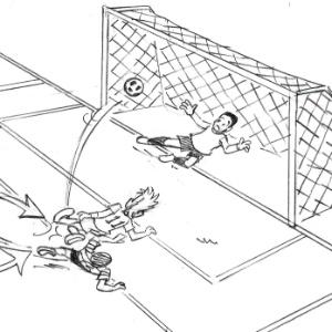 Ilustração de Maurício de Sousa para o gol de Neymar, que venceu como melhor do ano pela Fifa