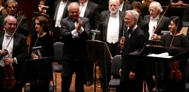 Membros da Orquestra Filarmônica de Nova York (19/9/2002) - AP Photo/New York Philharmonic Orchestra, Chris Lee