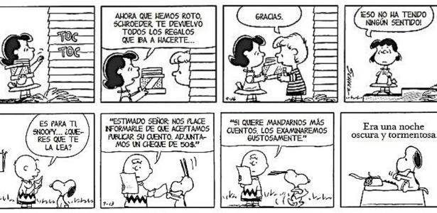 Tira em espanhol do livro de comemoração de 60 anos dos personagens de Charles M. Schulz - EFE