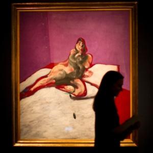 """""""Retrato de Henrietta Moraes"""", quadro de Francis Bacon, em exposição no leilão da Christie""""s em Londres (10/2/12) - AP"""