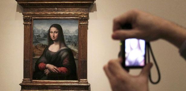 Após restauração, cópia do quadro Monalisa, de Leonardo da Vinci, é exposta no Museu do Prado, na Espanha (21/2/2012) - EFE/Paco Campos