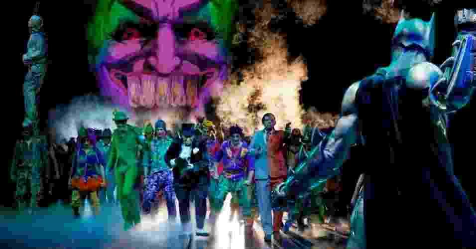 """Com uma história exclusiva do super herói dos quadrinhos, """"Batman Live"""" mistura artes marciais, acrobacia e efeitos especiais, com direito a cenários como a cidade fictícia de Gotham City, a mansão de Bruce Wayne e a Batcaverna (7/3/12) - Divulgação"""