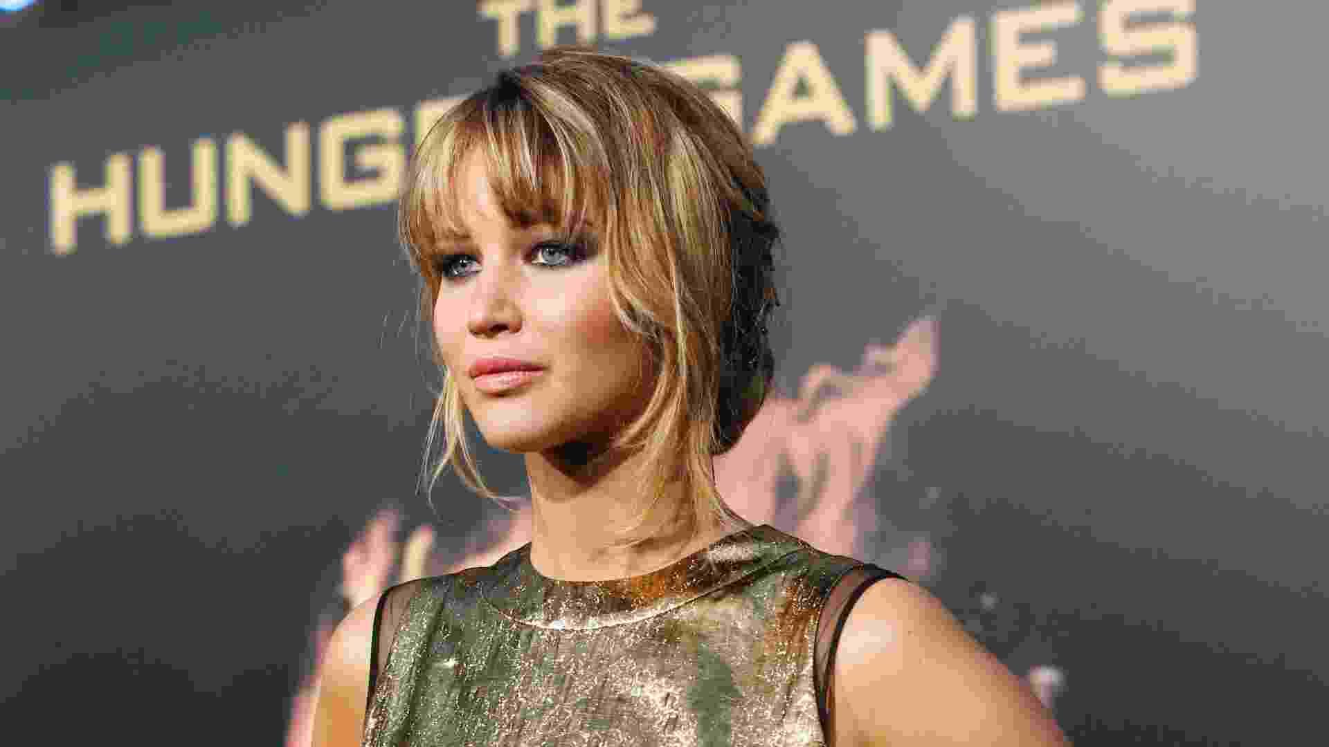 """A atriz Jennifer Lawrence, que interpreta Katniss Everdeen em """"Jogos Vorazes"""", na pré-estreia do filme em Los Angeles (12/3/12) - Mario Anzuoni/Reuters"""