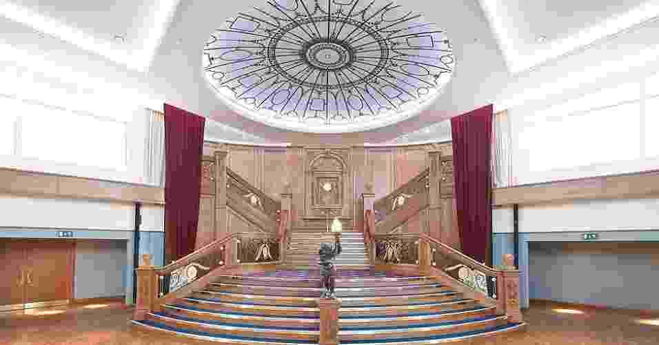 A réplica da escadaria foi montada com dez mil peças, fabricadas em Belfast - Christopher Heaney