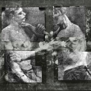 """Raio-X da do quadro """"Natureza Morta do Campo com Flores e Rosas"""" de Van gogh revelando outro quadro do pintor abaixo da superfície (20/3/12) - AP"""